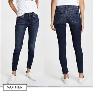 Mother The Looker Crop Here Kitty Kitty Jeans
